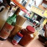 the range of condiments available