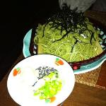 soba noodles and dip