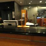 Front desk with demo lock
