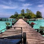 Lankayan Island from the restaurant area