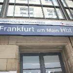 the frankfurt train station very near to the hotel