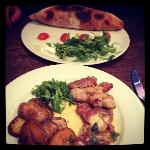 Calzone and Veal Escalopes with Parma Ham