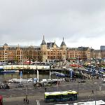 The Centraal Station as seen from our romm