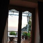 Vista de la terraza, desde la habitación