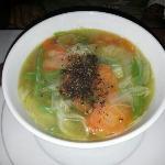 soupe de pattes aux crevettes