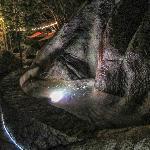 Boulders and Lights at Rock Cafe