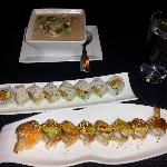 Coconut Soup and Sushi Rolls