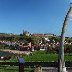 Whitby Abbey and the famous whalebones