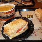 Soup and sandwich combo at Zoup