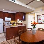 Kitchen and Dining Area in a Two Bedroom Suite