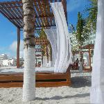 Bali-style beach beds