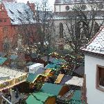 Blick über den Weihnachtsmarkt