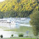 Cruise boats on the Schlogen Curve