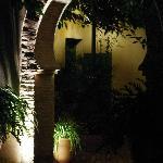 An archway in the garden