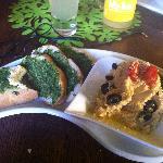Vegemiasto hummus and lava bread