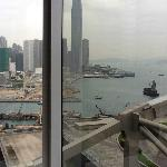 Harbor view from my room to Kowloon side