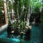Inside the hotel. The hotel is an open air hotel.