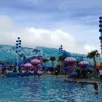 Finding Nemo building and pool