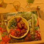 Entrée salade et Accras