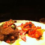 Anari - lamb steaks with pomegranate