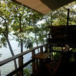 Each casita has a private deck with view of the lake