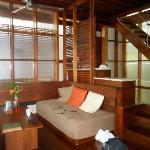 living area in the casita