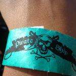 Wristband give to board the boat