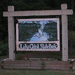 Lake Chicot State Park sign