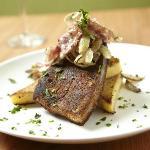 Swordfish with Polenta Cake