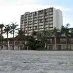 Hotel from bayside beach