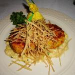 Crab Cakes w/ fried leeks