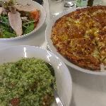 Pesto Risotto, Satay Pizza, Chicken Salad