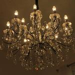 Chandelier in the Family Room