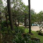 Уголок территории отеля