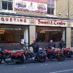 Harley Davidson Crewe - Enjoying A Curry before hitting the Road.