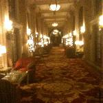The main hallway at the Willard