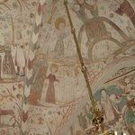 kalkmalerier fra Kjeldby kirke