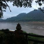 Blick vom Restaurant auf den Mekong...