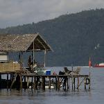 A view to the dive jetty