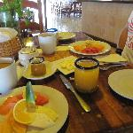 El desayuno, muy bueno