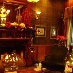 The lobby so beautifully decorated.
