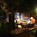 Sitting area at night