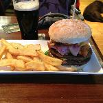 The delicious and monstrous Eagle Burger.