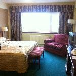 The room that met us on our arrival. stay away from the old part of gleneagles if at all possibl