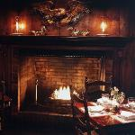Fireside Dining in the Inn's Handsome Library