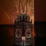 Lámpara marroquí en el área wifi :P