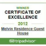 2012 Certificate of excellence