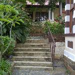 Steps leading to guest rooms