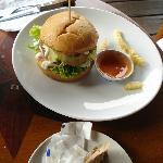 the chicken burger