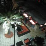 View from balcony of the poolside bar